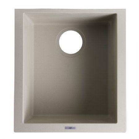 Alfi Brand AB1720UM B Biscuit 17 Inch Undermount Rectangular Granite  Composite Kitchen Prep Sink,