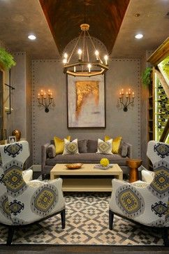 Nailheads can be placed on walls, doors and ceilings for a more large-scale, dramatic effect.