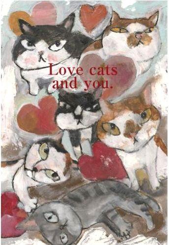 鉄男 猫ポストカード Love Cats