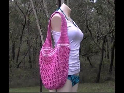 Market Bag 1 Handle Crochet Tutorial - YouTube
