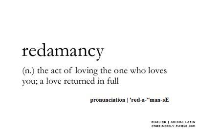 Words & Definitions | redamancy