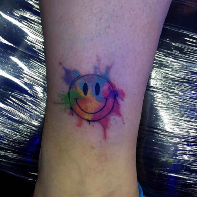 Image result for smiley face tattoo