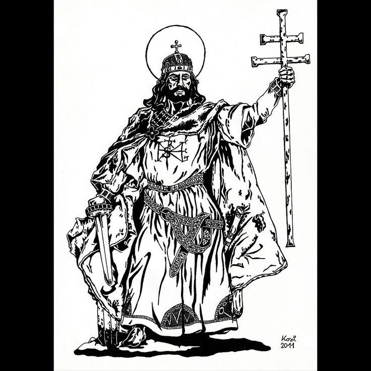 King Saint Stephen | pen drawing | 2011 on Behance