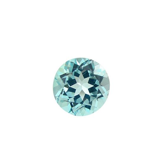 8 mm Natural genuine Sky BLUE TOPAZ Round top cut faceted ...