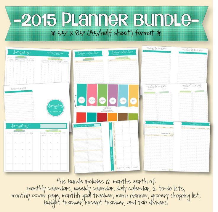 2015 Calendar Free Printable Monthly Calendar Lce Planner Organization Planner Organiser