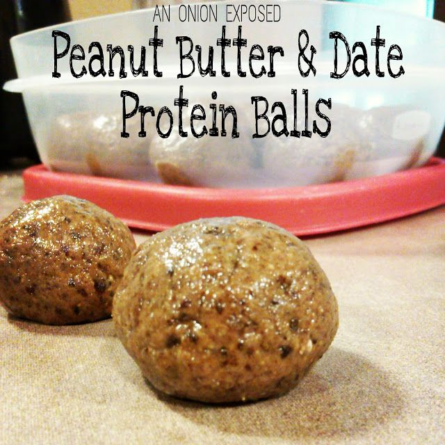 Peanut Butter & Date Protein Balls {An Onion Exposed}