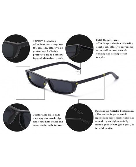 3515aa2d5802 Rectangle Small Frame Sunglasses Fashion Designer Square Shades for ...