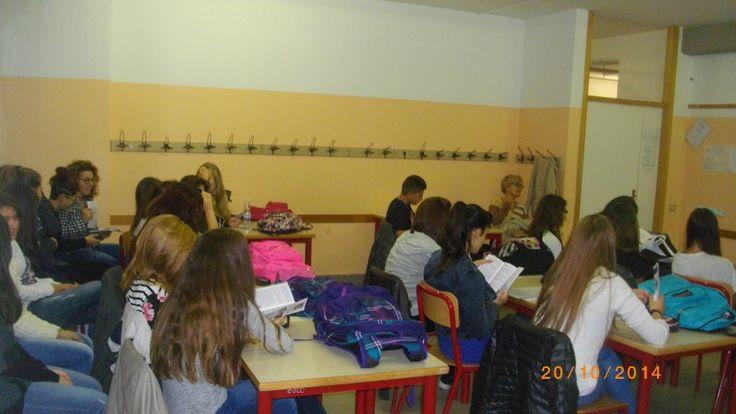 mercoledi 20 ottobre primo incontro 2014/2015 Liceo Marie Curie sede distaccata di Collegno