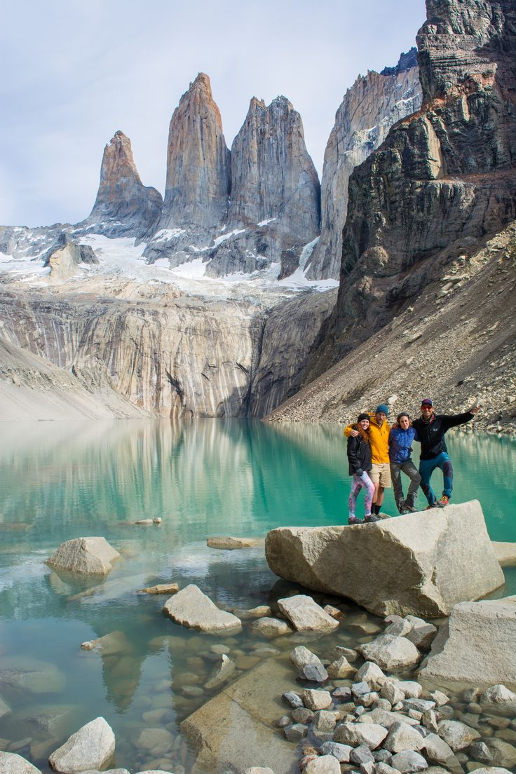 At the foot of the towers - Torres del Paine NP, #Patagonia #Chile