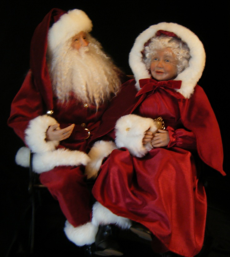 Mrs Claus Christmas Decorations Part - 40: Santa And Mrs.Claus - Made By Karen Vander Logt