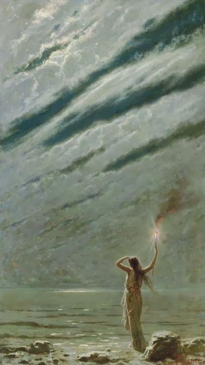 Andrea Fossati (1844-1919) - The Guiding Light