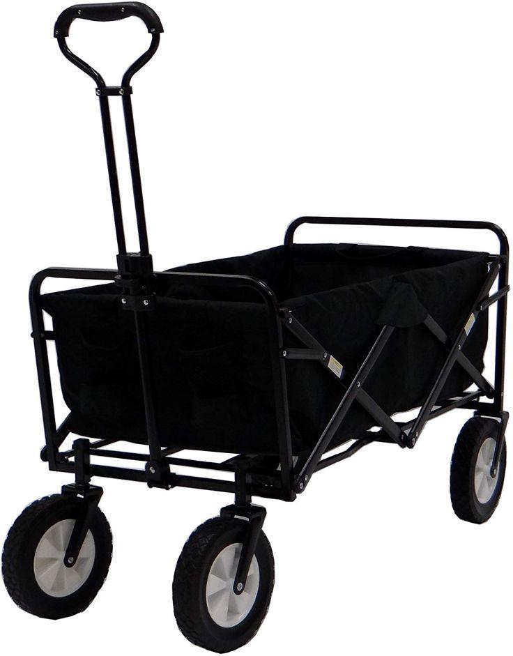 Mac Sports WTC Portable Folding Utility Wagon, Black (Có