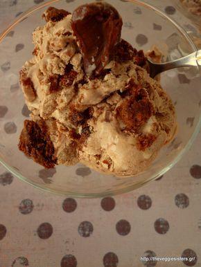 Παγωτό με nutella και μπισκότα / Ice cream with nutella and cookies