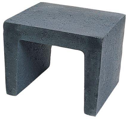 U element 40x40x50cm zwart van den broek bestratingen opslag hout pinterest broek zwart - Opslag terras ...