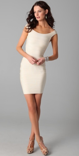 I love all (or most) of Herve Leger's bandage dresses, but this is my favorite. Classic, simple, gorgeous.