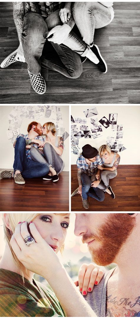 This couple looks so laid back.  Again, the bottom picture is my favorite.  I just love the way she's looking at the camera.