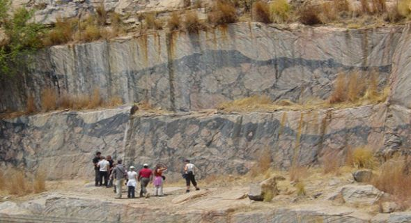 Inside the Vredefort Impact Crater 2 billion years old, largest impact crater on earth, South Africa