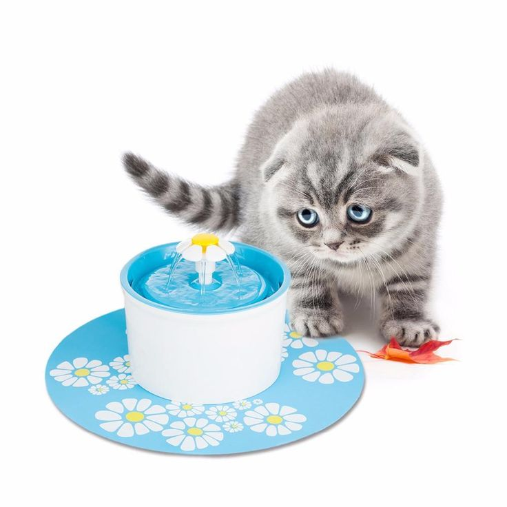 Automatic Cat dog Flower Fountain Mute Pet Water Dispenser Charcoal Filter & Anti-slip Mat for Pet Dog FDA/LFGB Approved EU Plug