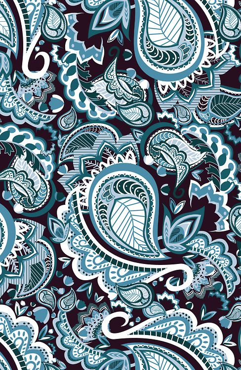 jkmcgill:  My first attempt at paisley. It took me the same amount of time to create this as it usually does to create an entire collection....