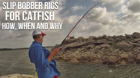 Slip Bobber Rig For Catfish: How, When and Why you should use slip bobbers or slip floats for fishing for catfish from Catfish Edge.