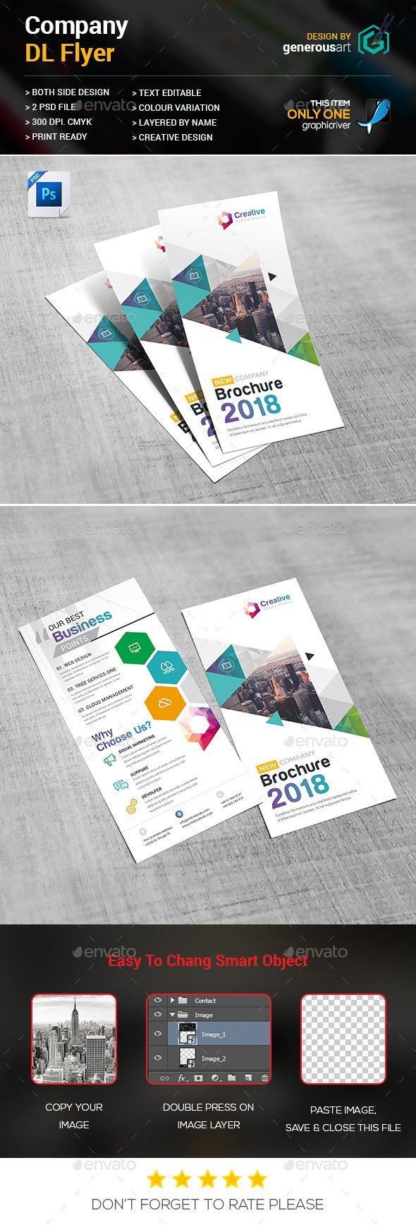 Company DLFlyer #modern dl flyer #designer  • Download here → https://graphicriver.net/item/company-dlflyer/20695313?ref=pxcr