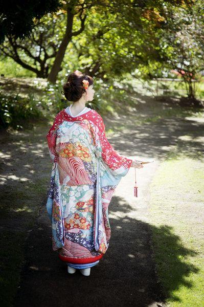 CUCURU 赤紅絞り刺繍 着物ウェディング 和婚 色打ち掛け