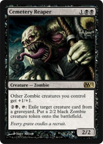 mtg Magic the Gathering Black Zombies deck