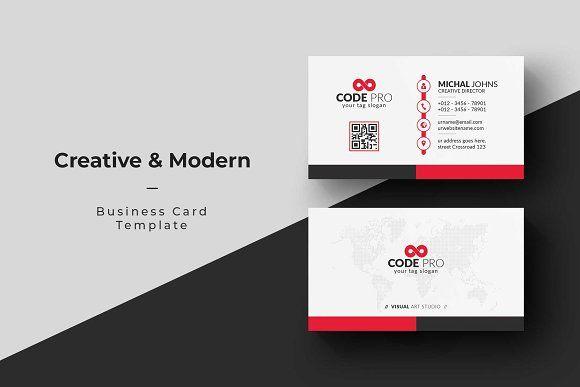 Creative Modern Business Card Modern Business Cards Business