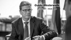 Foreign Minister Steinmeier on the death of his predecessor Guido Westerwelle