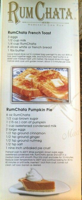 RumChata food recipes
