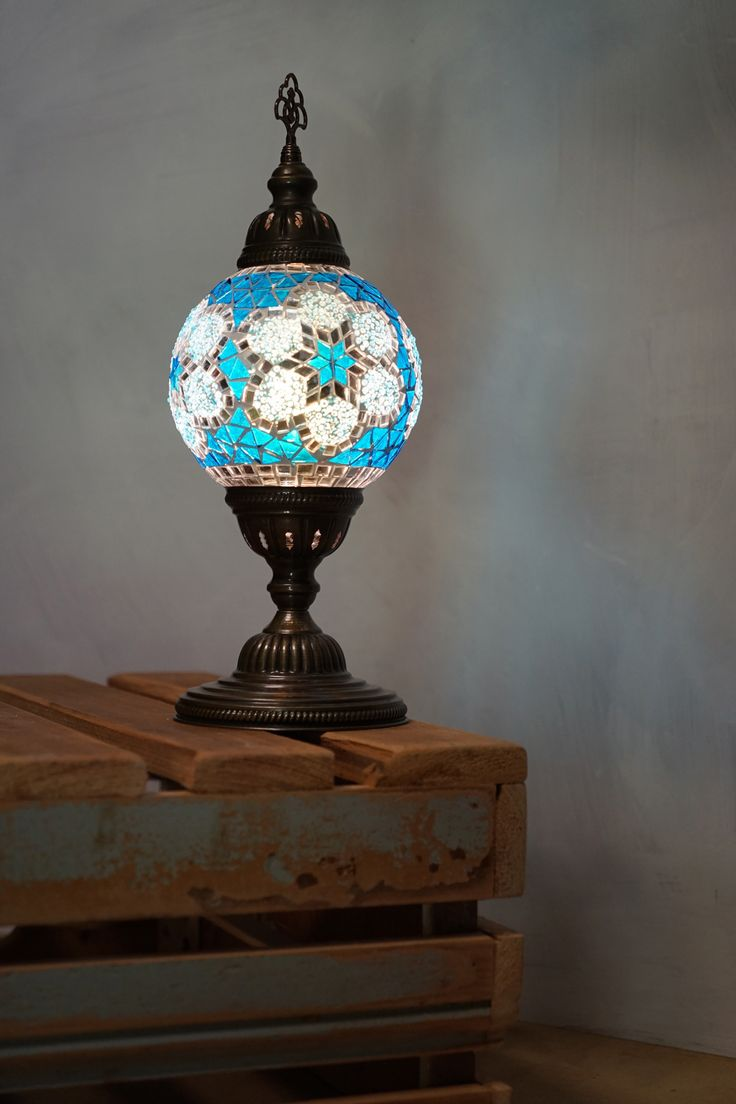 Globe Table Lamp Blue