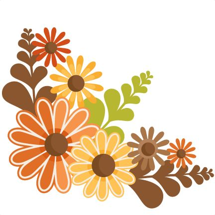 $$ Fall Flowers SVG cutting files for scrapbooking fall svg cut files for cricut…