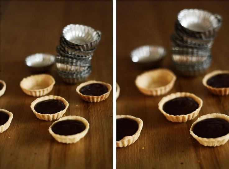 čokoládové tartaletky