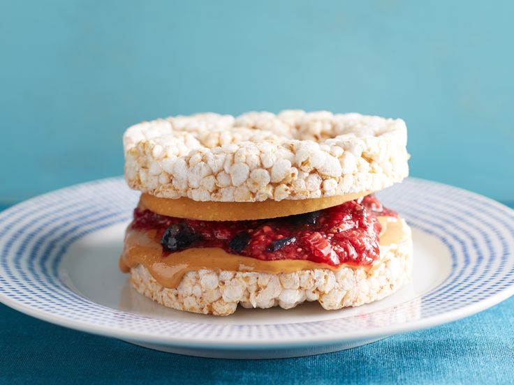Breadless Peanut Butter and Chia-Jam Sandwiches