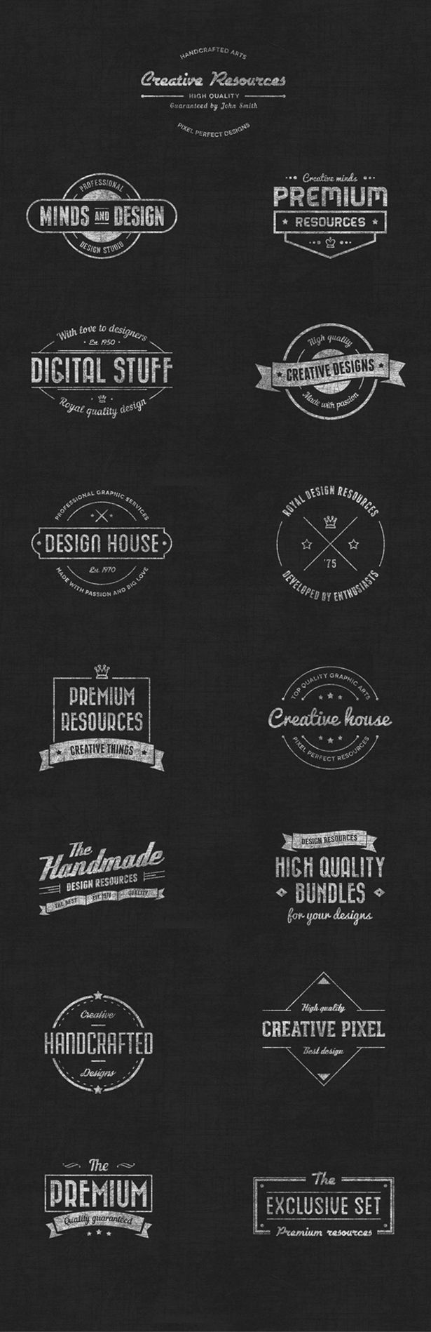 Vintage never goes out of style, and chalkboard style vintage badge vectors are all the rage right now. Grab a piece of this popular pie and download this new Vintage Badge Vector set,