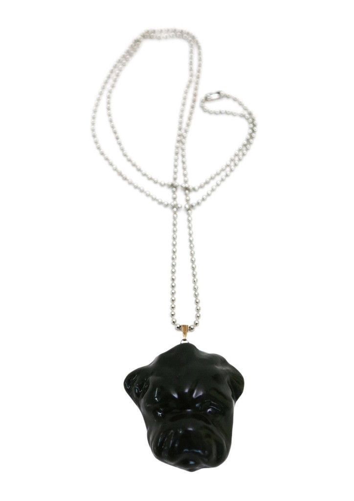 "Ivana Helsinki - Guardian dog. Paola Suhonen designed the ""Guardian Dog"" necklace for Kaipaus, a Finnish jewellery company. The ""Guardian Dog"" porcelain jewelry has a special ceramic scent core; add a slash of your favorite perfume and the scent will stay in the jewelry up to 6 weeks."