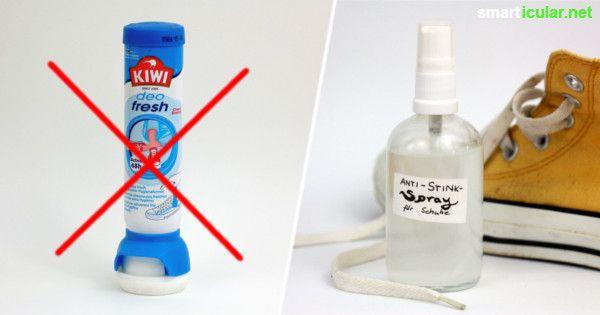 Mit diesem einfachen Schuhspray kannst du Schuhgerüche effektiv neutralisieren - ganz ohne giftige Chemikalien.