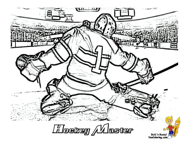 Coloring Page Of Hockey Goalie. You Can Print Out This