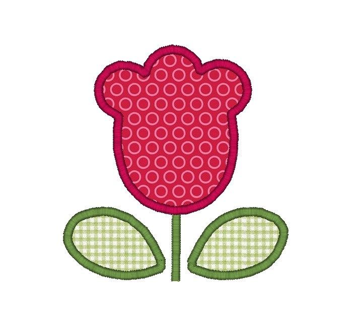 Tulip Applique Machine Embroidery Design. $3.00, via Etsy.