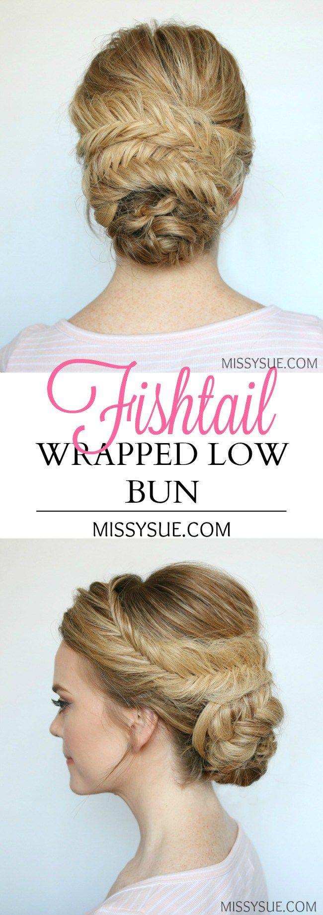 fishtail-wrapped-low-bun-tutorial