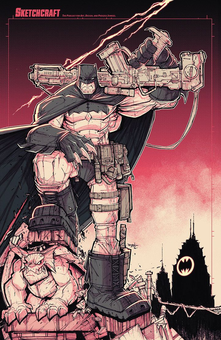 Commission: Dark Knight Returns Noir by RobDuenas