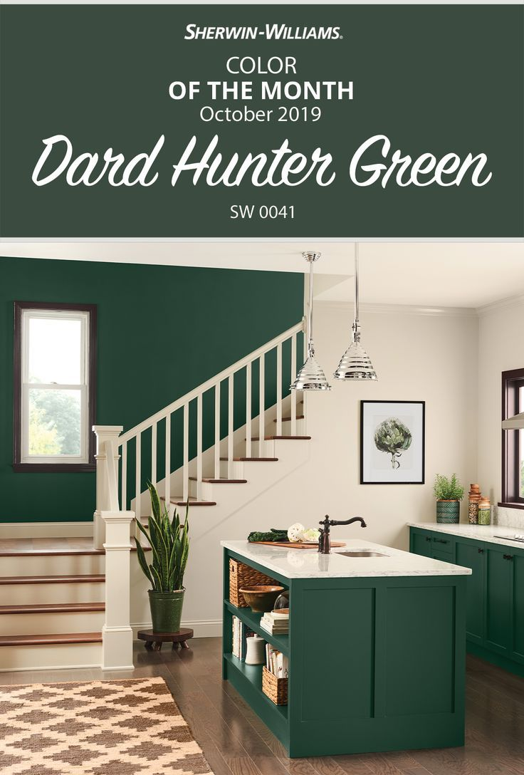 Cook Up A New Look For Your Kitchen With Cabinets Or An Accent Wall Painted In The Sherwin Willi Green Accent Walls Accent Wall Paint Accent Wall In Kitchen