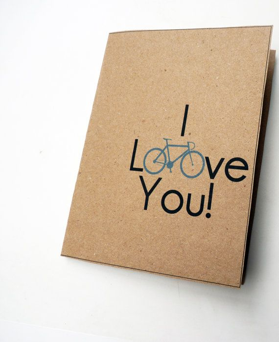 I loove you - Brown Kraft Paper. Simple!