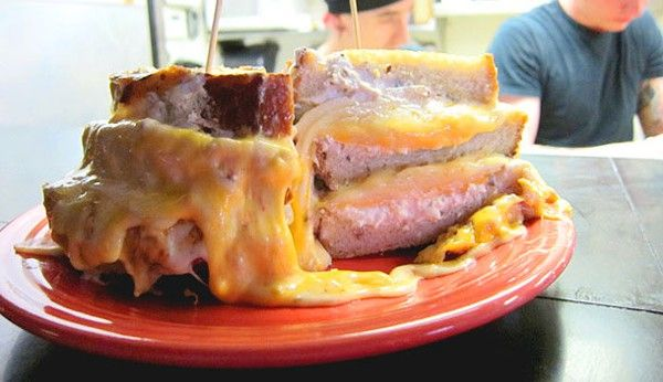 <p>The Melt Challenge<br/> <p>Where: NE Ohio-area Melt Bar and Grilled locations <p>Challenge: Defeat this monster grilled cheese loaded with 13 cheeses, 3 slices of grilled bread and a pile of hand-cut fries & slaw. Over 5 lbs. of food! <p>Prize: Finish it all without any help or trips to the bathroom, and you will be awarded a Melt T-shirt or Melt Pint Glass, a $10 gift card, and we'll immortalize you in their online Melt Challenge Hall of Fame. <p>Cost: $30