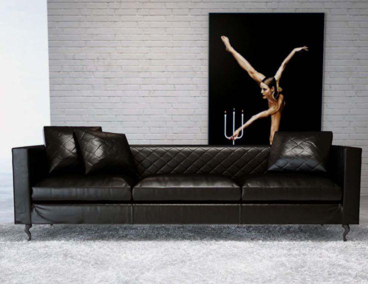 Latest Sofa Designs: a gorgeous black leather sofa #gorgeous #black #leather #sofa #blacksofa