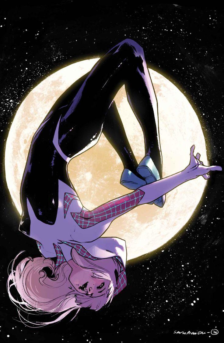 Spider-Gwen by Sarah Pichelli #SpiderVerse #Spiderman #Spiderwoman