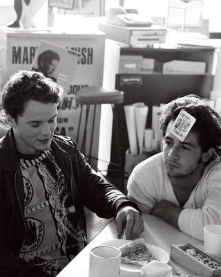 Anton Yelchin & Michael Angarano. What a freaking fantastic picture
