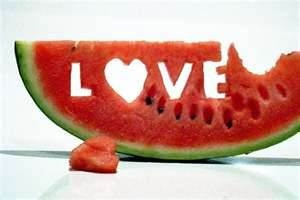 I LOVE watermelon. It makes me SO HAPPY! I could eat it every single day! When it is watermelon season... I TRULY GET EXCITED...Because that means WARMER WEATHER...SUMMERTIME!