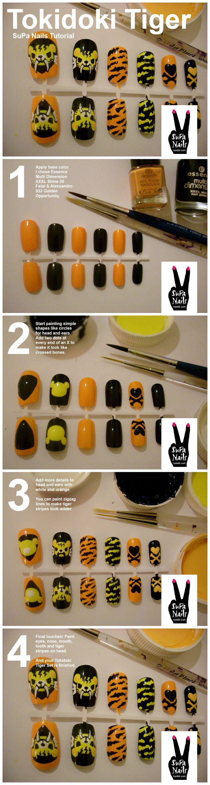Tokidoki Tiger Nail Art Tutorial from SuPa Nails