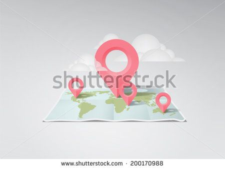 world map illustration - stock photo